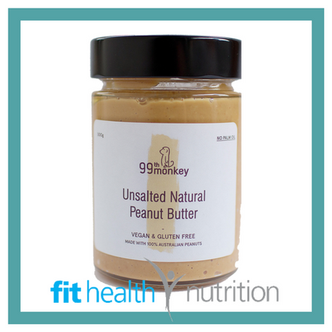 99th Monkey Nut Butter Unsalted Natural Peanut Butter Mornington
