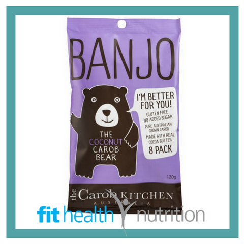 BANJO BEAR 8 PACK COCONUT CAROB BEARS