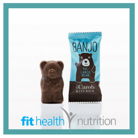The Carob Kitchen Banjo Bear Healthy Chocolate Original Blue