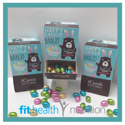 The Carob Kitchen Healthy Chocolate Banjo Bunny Mini Easter Eggs