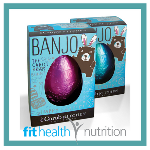 The Carob Kitchen Healthy Chocolate Banjo Bunny Easter Egg