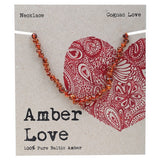Amber Love Baltic Amber Necklace Cognac Love