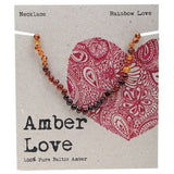 Amber Love Baltic Amber Necklace Rainbow Love