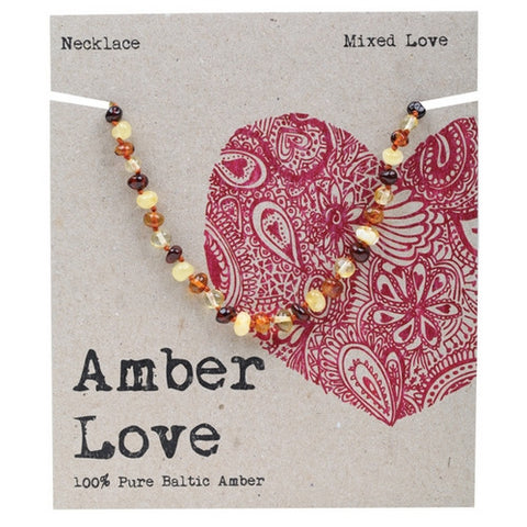 Amber Love Baltic Amber Necklace Mixed Love