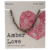 Amber Love Baltic Amber Necklace Olive Love