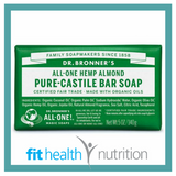 Dr Bronners Pure Castile Bar Soap Almond
