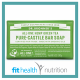 Dr Bronners Pure Castile Bar Soap Green Tea