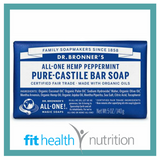 Dr Bronners Pure Castile Bar Soap Peppermint