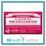 Dr Bronners Pure Castile Bar Soap Rose