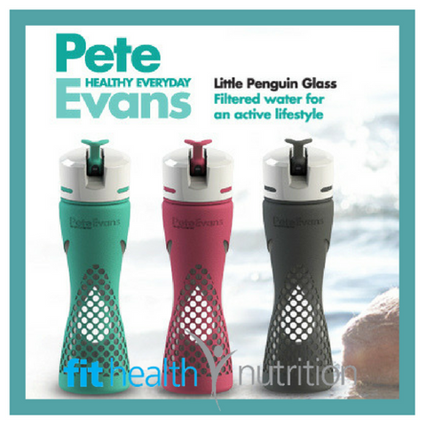 Pete Evans Little Penguin Personal Glass Filtered Water Bottle