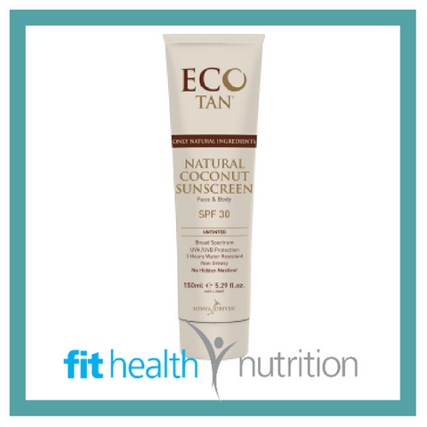 ECO TAN NATURAL COCONUT SUNSCREEN UNTINTED