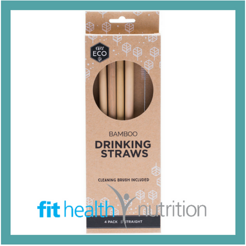 Ever Eco 4 pack Bamboo Straws
