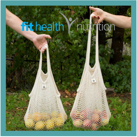 Ever Eco Organic Cotton Net Tote Bag Comparison Long Handle versus Short Handle