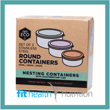 Ever Eco Stainless Steel Round Nesting Containers