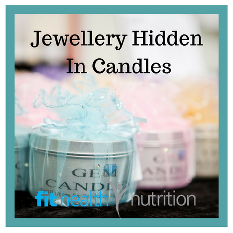 GEM CANDLE WITH JEWELLERY