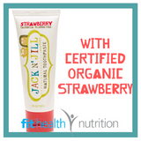 Jack and Jill Childrens Natural Toothpaste Strawberry