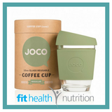 Joco Reusable Glass Coffee Cup 12oz Army Green