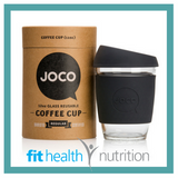 Joco Reusable Glass Coffee Cup 12oz Black