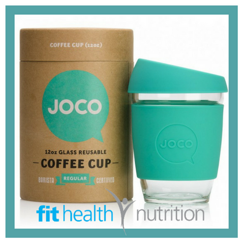 Joco Reusable Glass Coffee Cup 12oz Mint