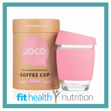 Joco Reusable Glass Coffee Cup 12oz Strawberry