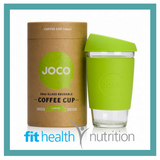 Joco Reusable Glass Coffee Cup 16oz Lime