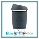 Joco Reusable Glass Coffee Cup 16oz Mood Indigo