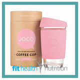 Joco Reusable Glass Coffee Cup 16oz Strawberry