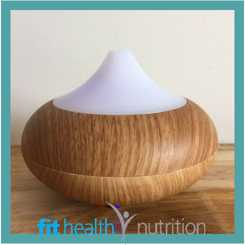 LED LIGHT BAMBO AROMA DIFFUSER ESSENTIAL OILS AROMATHERAPY