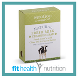 Moogoo Natural Fresh Milk Cleansing Bar Soap with Goats Milk, Olive Oil & Cocoa Butter