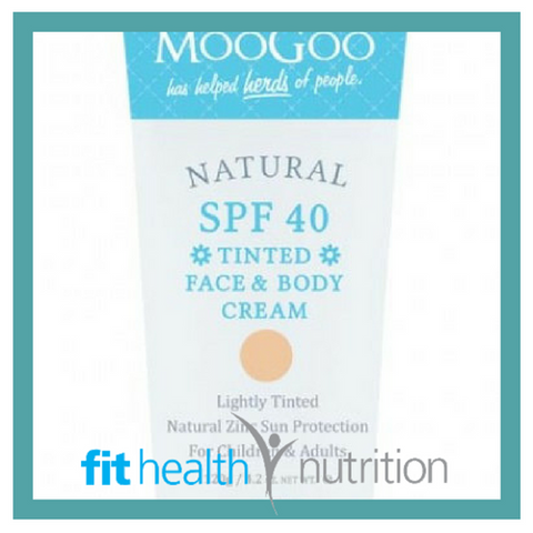 Moogoo Natural SPF 40+ Tinted Face and Body Cream