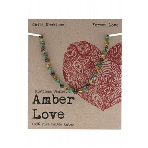 Amber Love Baltic Amber Necklace Forest Love