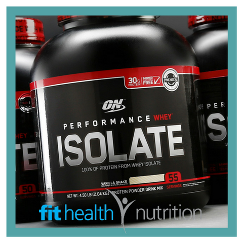 On Optimum Nutrition Whey Protein Isolate