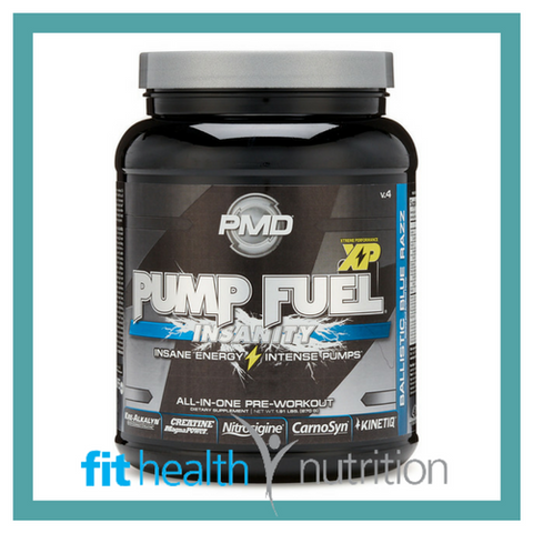 PMD Pump Fuel Insanity Sports Nutrition Ballistic Blue Razz