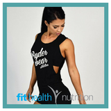 RyderWear Ladies Signature Baller Singlet Black Front