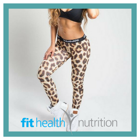 Ryderwear Ladies Leopard Print Gym Tights