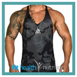 Ryderwear Mens Commando Mesh T Back Singlet Black