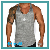 Ryderwear T Back Singlet Marle Grey