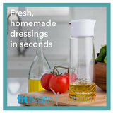 Whiskware Salad Dressing Shaker for Homemade Dressings in Seconds