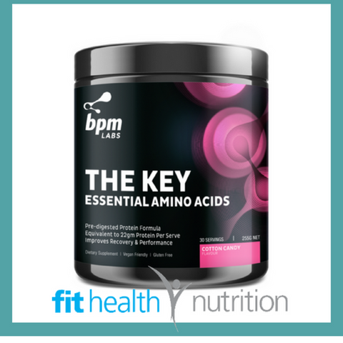 BPM LABS THE KEY ESSENTIAL AMINOS BCAAS VEGAN COTTON CANDY