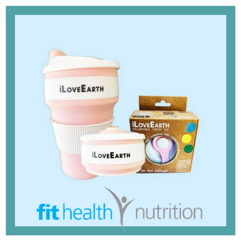 ILoveEarth Collapsible Coffee Cup Australia Baby Pink