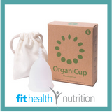ORGANICUP MENSTRUAL CUP ECO VEGAN WASTE FREE MORNINGTON FITHEALTH NUTRITION