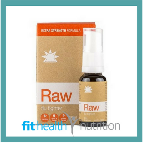 AMAZONIA RAW FLU FIGHTER HERBAL SPRAY VEGAN