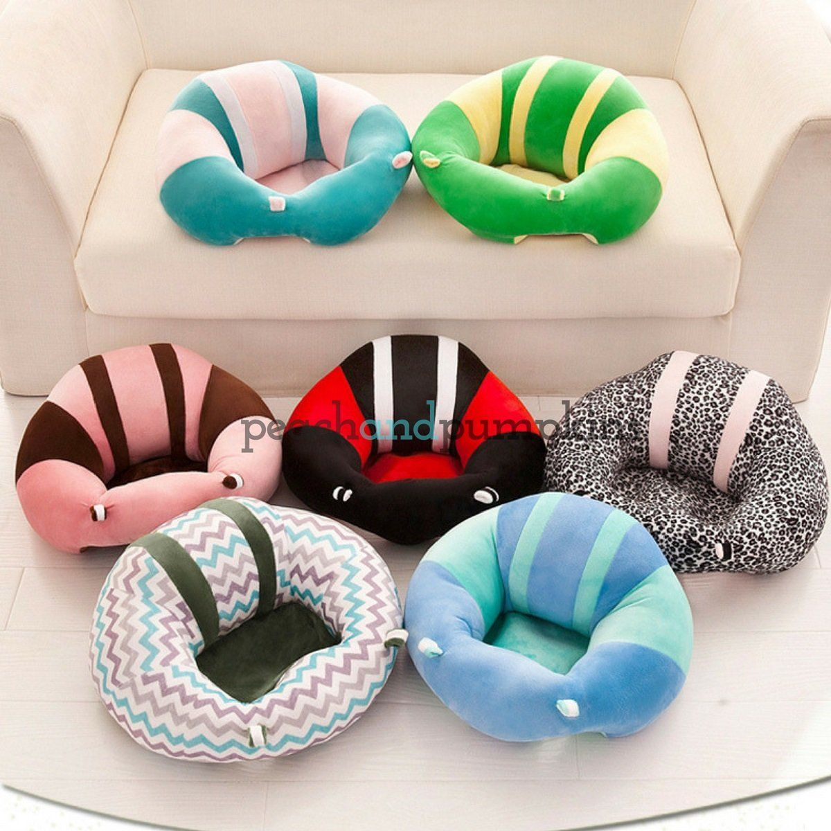 Latest Collection Of Infant Baby Support Seat Soft Chair Cushion Plush Cotton Orange Pink Elephant Durable Service Other