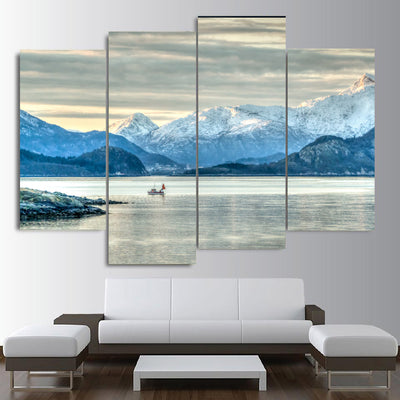 Icy Mountain View Canvas Set - Canvasist