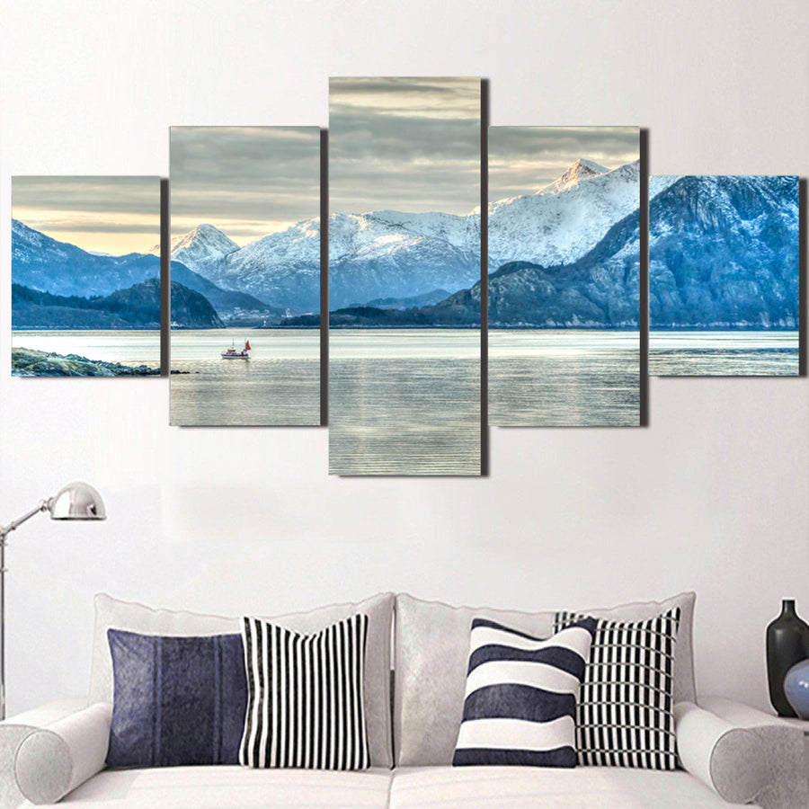 Adventure Boat Cloudy Sky Canvas Set - Canvasist