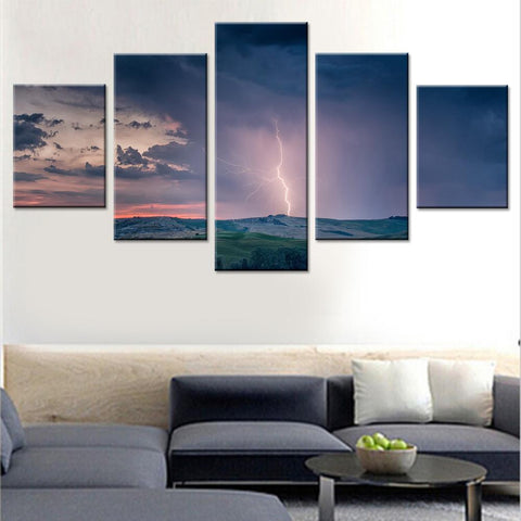 Natural Lightning Canvas Set