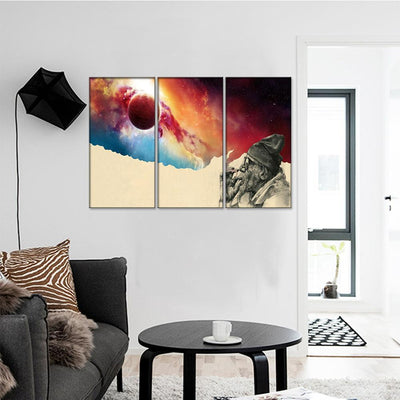 Smoking Man Universe Canvas Set - Canvasist