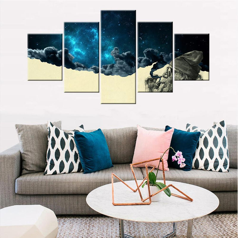 Smoking Man Space Canvas Set - Canvasist