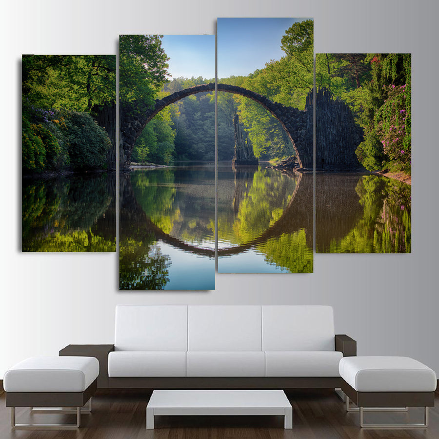 Arch Bridge Clouds Canvas Set - Canvasist