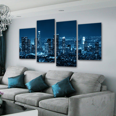 Los Angeles at Night Canvas Set - Canvasist